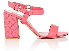 "Valentino Women's ""Free Rockstud Spike"" Leather Sandals - Pink"