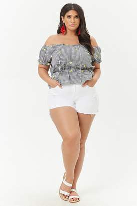 Forever 21 Plus Size Distressed Denim Shorts