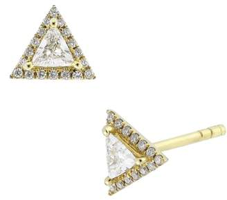 Bony Levy Diamond Triangle Stud Earrings