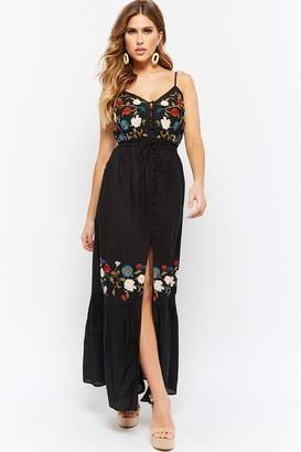 Forever 21 Embroidered Cami Maxi Dress