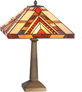 Tiffany & Co. Emporium Red Jewelled Square Geometric Table Lamp
