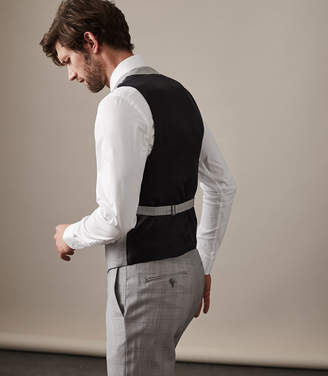 Reiss TUDOR W TAILORED WAISTCOAT Soft Grey