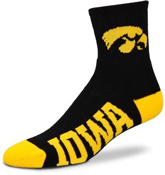 For Bare Feet Adult Iowa Hawkeyes Team Color Quarter-Crew Socks