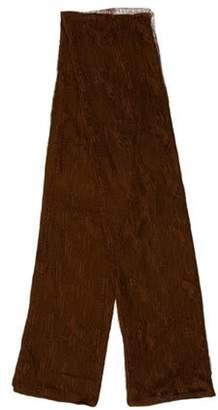 Donna Karan Sheer Lace Scarf Brown Sheer Lace Scarf