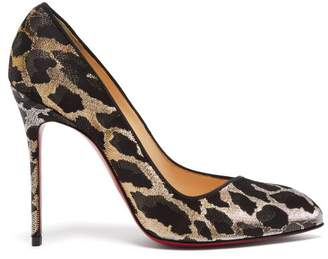 Christian Louboutin Corneille 100 Leopard Brocade Pumps - Womens - Black Gold