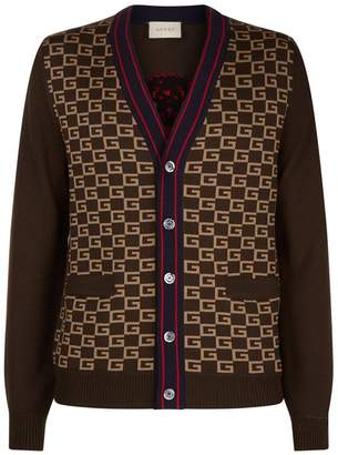 Gucci Embroidered Square G Cardigan