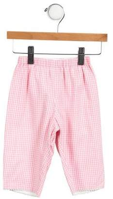 Papo d'Anjo Girls' Gingham Wide-Leg Pants