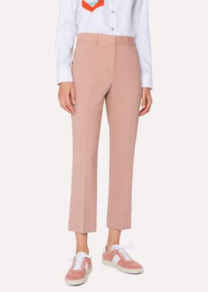 Paul Smith Women's Slim-Fit Pink Wool Pants