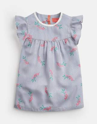 Joules CREAM HEART GEO Violet Woven Frill Tank 3-12 Yr Size 4yr