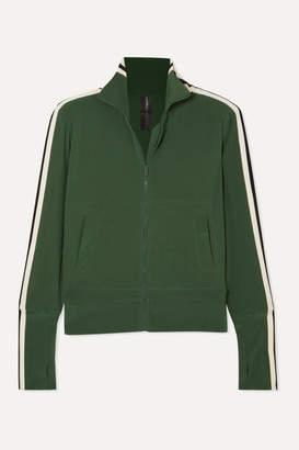 Norma Kamali Striped Stretch-jersey Track Jacket - Forest green