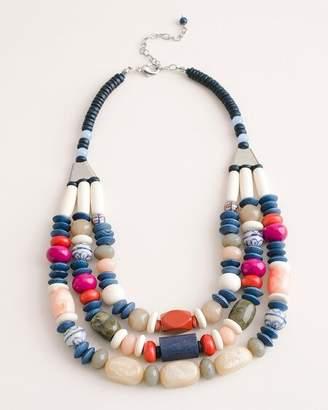 Chico's Chicos Short Beaded Multi-Colored Multi-Strand Necklace