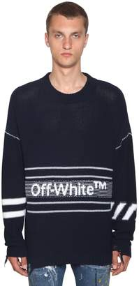 Off-White Off White Logo Wool Knit Sweater