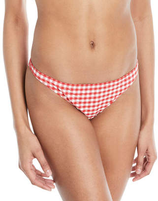 Tory Burch Gingham Hipster Swim Bikini Bottoms