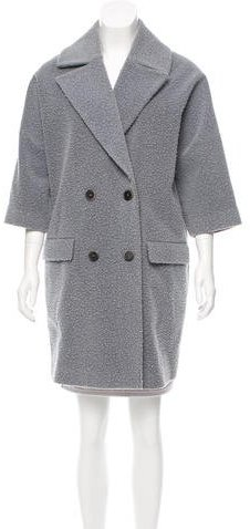 MSGM Knee-Length Double-Breasted Coat