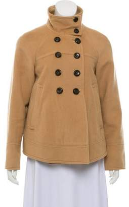 Rebecca Taylor Double-Breasted Wool Coat