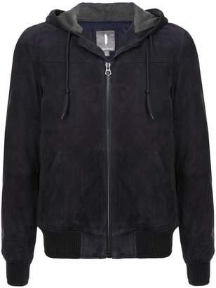 Michael Bastian zip front hoodie