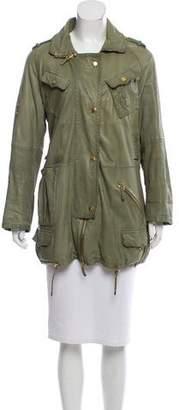 Gucci Short Leather Coat