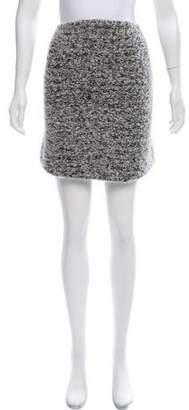 Helmut Lang Bouclé Knit Skirt