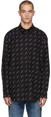 Balenciaga Black All Over Logo Shirt