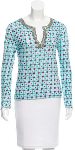 Tory BurchTory Burch Printed Embellished Top