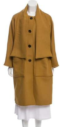 Tory Burch Long Wool-Blend Coat w/ Tags