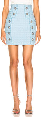 Balmain High Waisted Skirt in Blue | FWRD