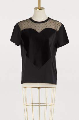 RED Valentino Cotton t-shirt with velvet heart