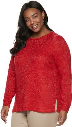 Croft & Barrow Plus Size Embellished Sweater