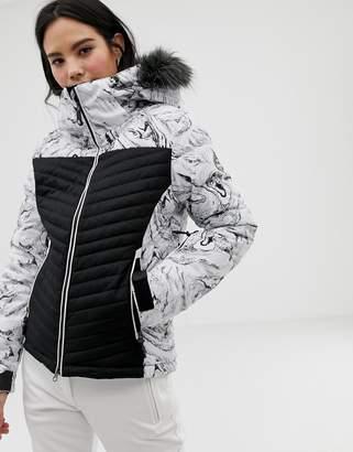Surfanic ski marble print surftex jacket