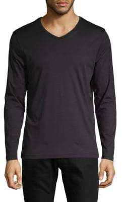 Saks Fifth Avenue V-Neck Long Sleeve T-Shirt