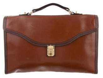 Mark Cross Leather Briefcase