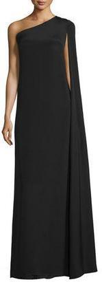Jill Jill Stuart One-Shoulder Crepe Gown $335 thestylecure.com