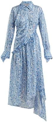 Preen by Thornton Bregazzi Petunia floral-print asymmetric dress