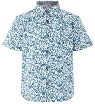 Monsoon Haden Print Short Sleeve Shirt