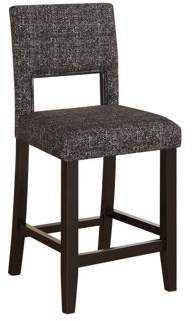 Linon Vega Counter Stool in Black and Gray- discont