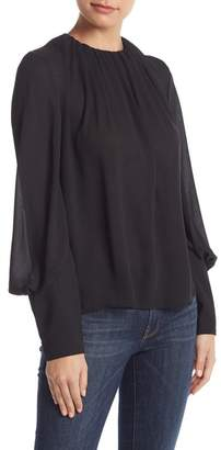Do & Be Do + Be Pleated Crew Neck Blouse