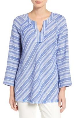 Women's Nic+Zoe Freshwater Stripe Linen Blend Tunic $148 thestylecure.com
