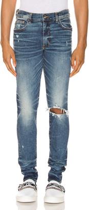 Amiri Broken Jean in Dark Crafted Indigo | FWRD