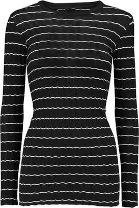 Enza Costa Ribbed Cotton And Cashmere-Blend Top