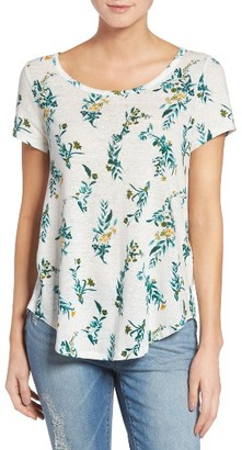 Women's Lucky Brand Floral Vines Tee $39.50 thestylecure.com