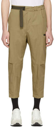 Oamc Tan Cropped Cal Trousers