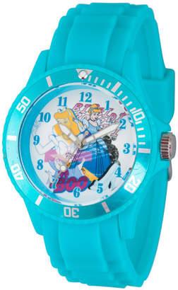 DISNEY PRINCESS Disney Princess Cinderella Womens Blue Strap Watch-Wds000210