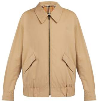 Burberry Harrington Cotton Gabardine Jacket - Mens - Beige