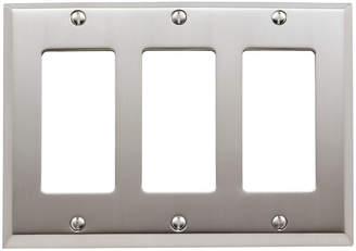 Rejuvenation Lewis Triple GFCI Switchplate