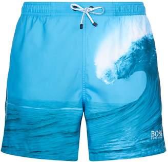 BOSS GREEN Photo Waves Swim Shorts