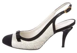 Chanel Cap-Toe Slingback Pumps