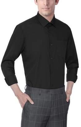 Verno Men's Classic Fashion Fit Long Sleeve Dress Shirt