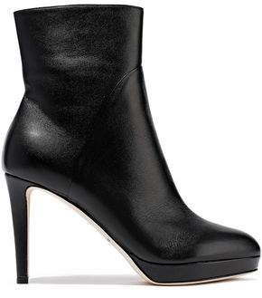 Sergio Rossi Leather Platform Ankle Boots