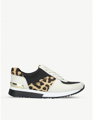 MICHAEL Michael Kors Allie leopard print panelled trainers