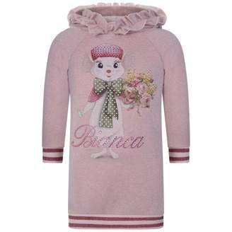MonnaLisa MonnalisaPink Bianca Sweater Dress